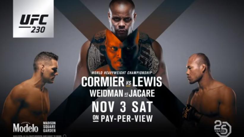 UFC 230: PPV - gdzie oglądać galę UFC na żywo i walkę Cormier - Lewis?
