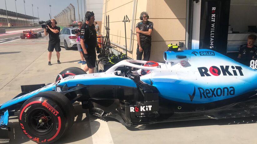 Robert Kubica na pierwszym treningu przed GP Bahrajnu