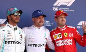 GP Hiszpanii: Deklasacja Mercedesa i pole position Bottasa. Problemy Kubicy