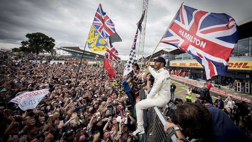 Leiws Hamilton na GP Wielkiej Brytanii