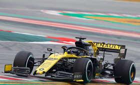 Nico Hulkenberg na testach w Barcelonie