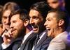 Messi, Buffon, Ronaldo