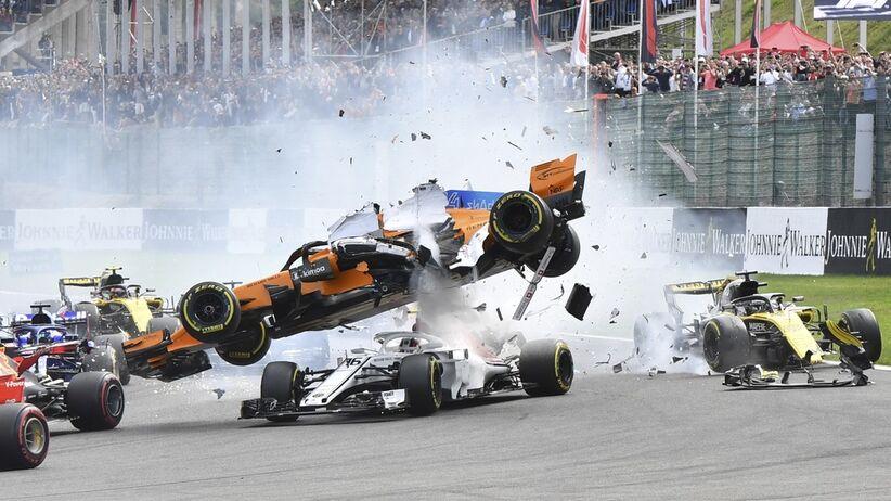 Wypadek Fernando Alonso w Belgii