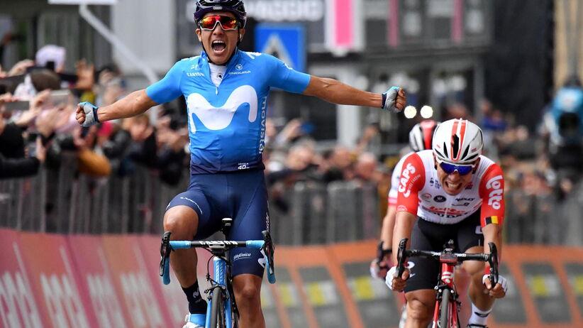 Giro d'Italia: Carapaz wygrał 4. etap, Majka w drugiej grupie