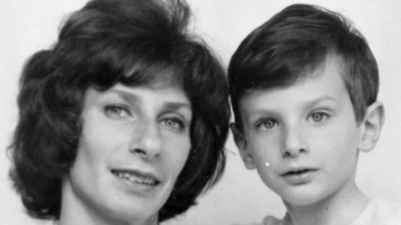 Irena Szewińska z synem Andrzejem
