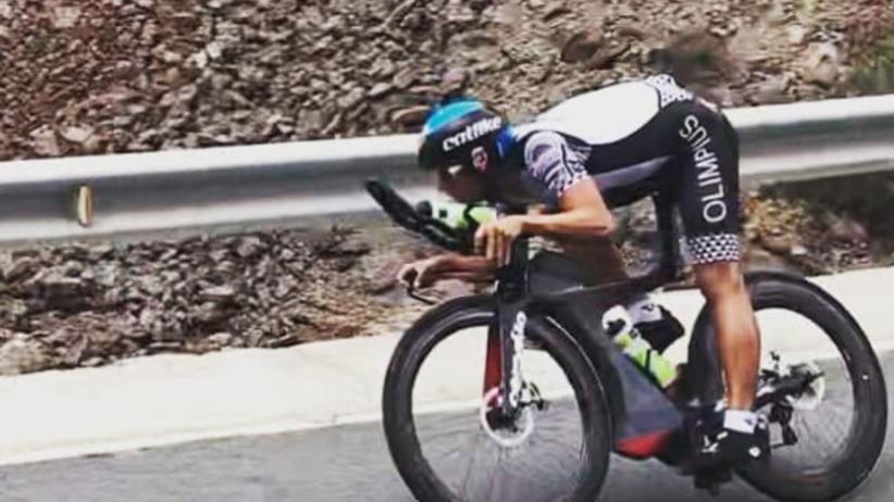 Robert Karaś na rowerze