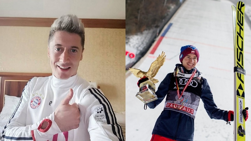 Robert Lewandowski i Kamil Stoch