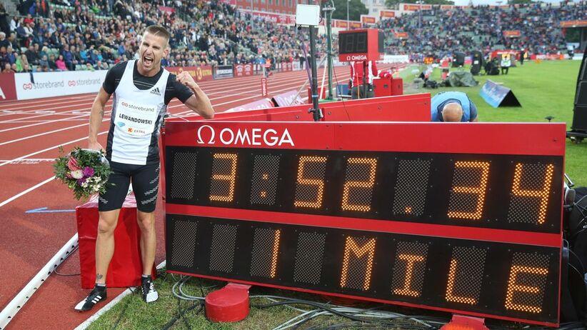 Marcin Lewandowski pobił rekord Polski na milę