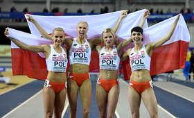 Polska sztafeta odebrała medale na bankiecie
