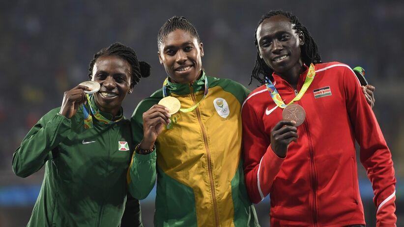 Podium olimpijskie na 800 m