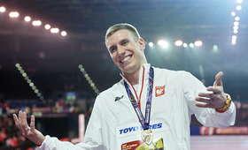 Piotr Lisek na halowych mistrzostwach świata w Birmingham 2018