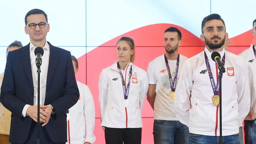 Mateusz Morawiecki ze sportowcami