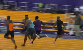 Pobił rekord świata na 60 m. Nie uznali go, bo nie przeszedł kontroli antydopingowej [WIDEO]