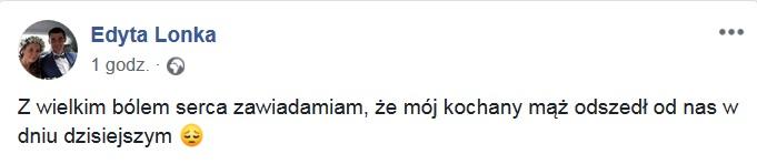 Łukasz Lonka nie żyje