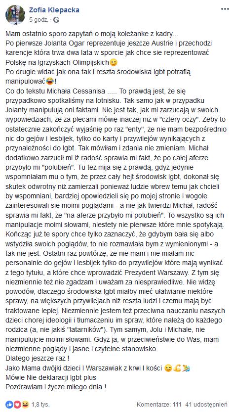 Zofia Klepacka