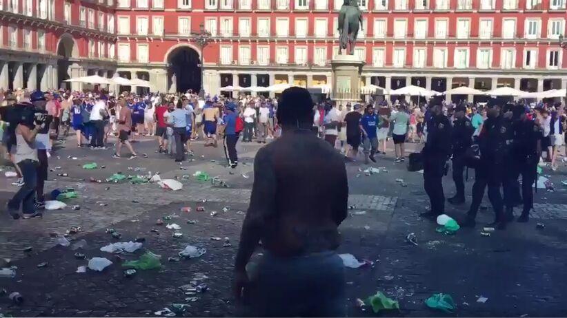 Zamieszki przed meczem Atletico - Leicester