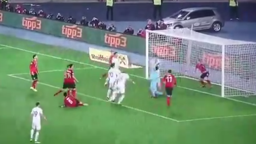 Polska - Austria, gol Piątka