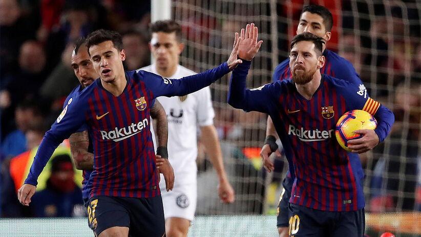 Lionel Messi zdobyłdwa gole w meczu Barcelona - Valencia