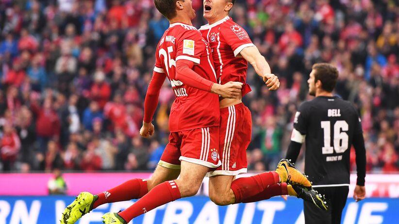 Lewandowski uczcił jubileusz. Dwa gole w meczu z Mainz [WIDEO]