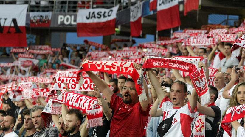 Kibice na meczu Polska - Anglia