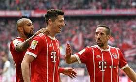 Lewandowski, Ribery, Vidal