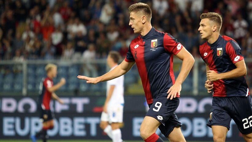 Krzysztof Piątek zdobył gola w meczu Genoa - Empoli