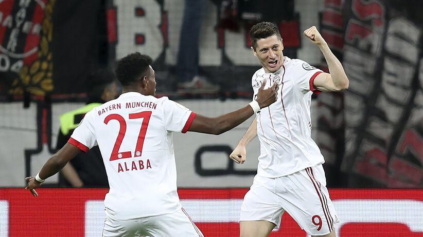 Robert Lewandowski zdobył gola w meczu z Bayerem
