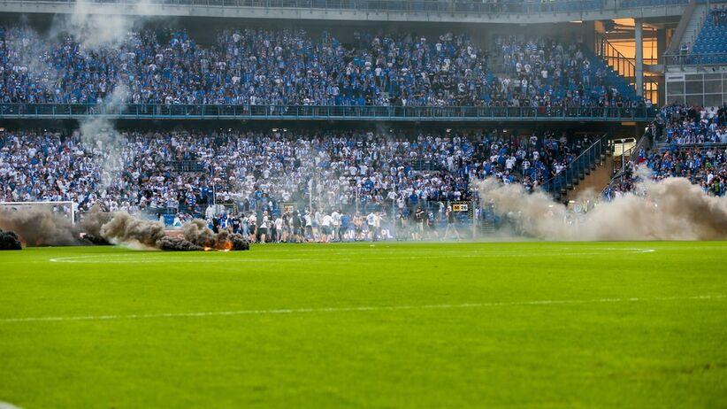 Przerwany mecz Lech - Legia