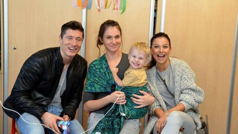 Lewandowscy w Centrum Zdrowia Dziecka