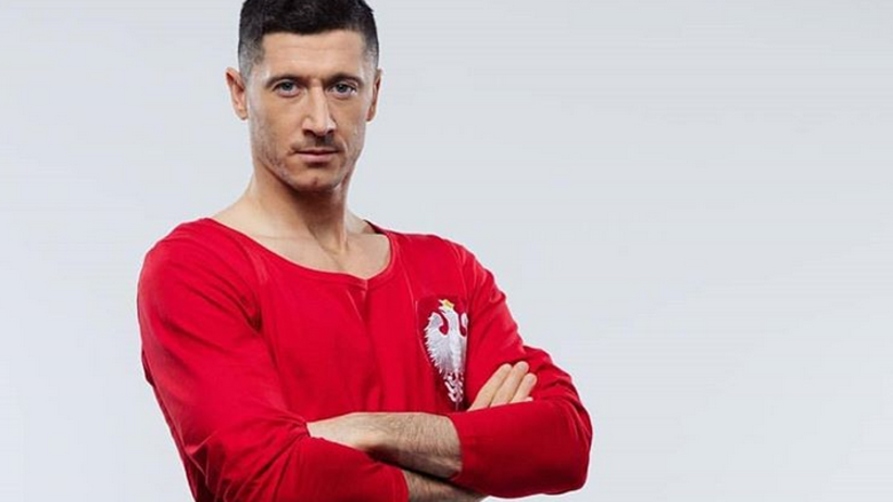 Robert Lewandowski w stroju retro