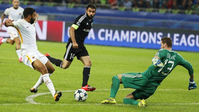 Liga Mistrzów: Skromne zwycięstwo Romy w Azerbejdżanie, Polacy na ławce