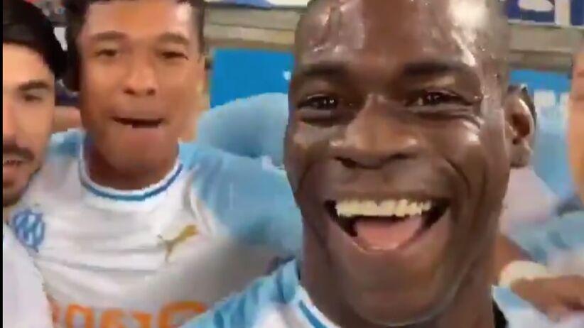 Mario Balotelli relacjonował fetę po golu