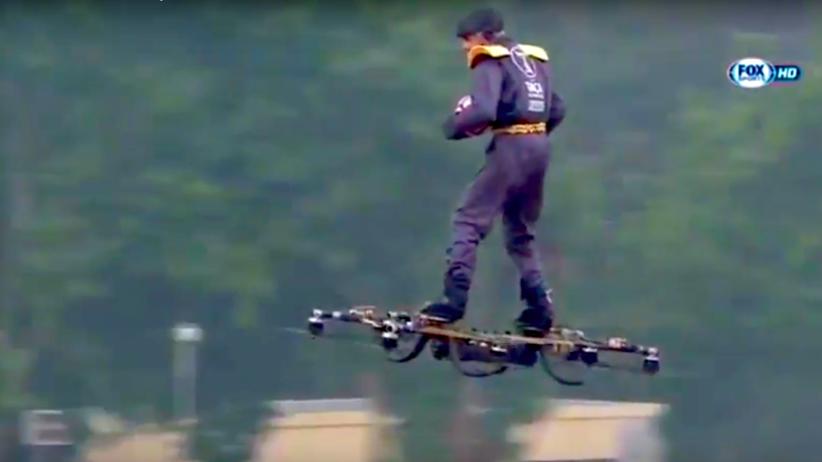 Mężczyzna latał na dronie nad boiskiem przed finałem Pucharu Portugalii [WIDEO]