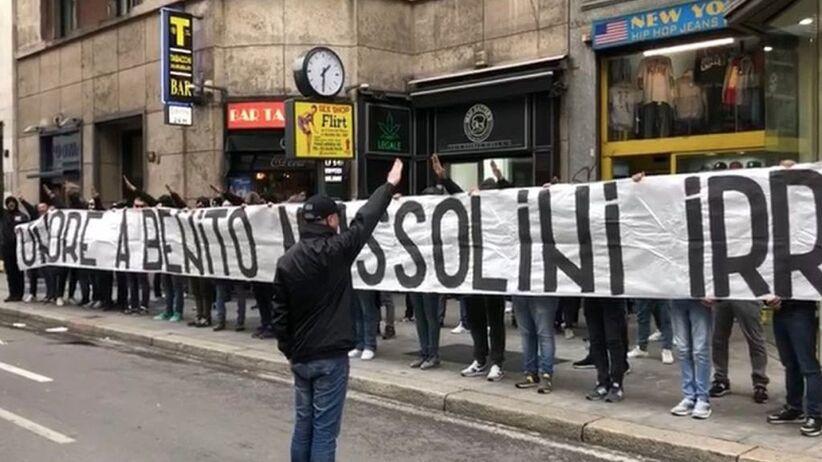 Transparent kibiców Lazio