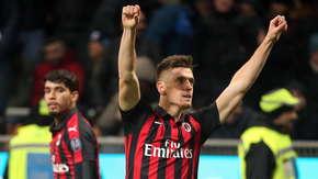 Gol Krzysztofa Piątka w meczu Milan - Napoli
