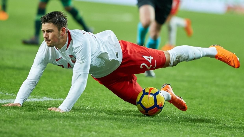 Dawid Kownacki w meczu z Nigerią