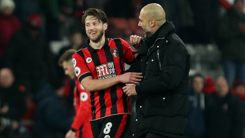 Pep Guardiola i Harry Arter