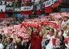Polska - Dania: Policja zatrzymała polskich kibiców, bili się z Duńczykami