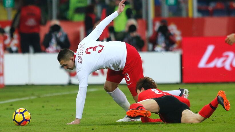 Artur Jędrzejczyk w meczu Polska - Korea