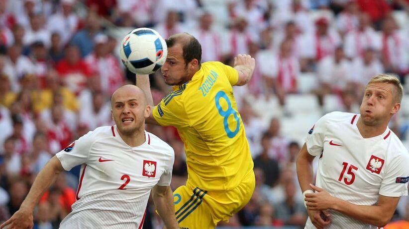 Michał Pazdan w meczu z Ukrainą