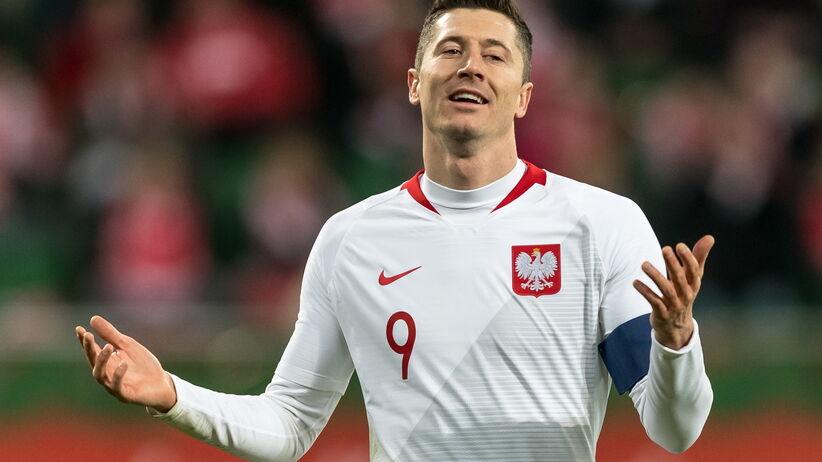 Robert Lewandowski w meczu Polska - Nigeria