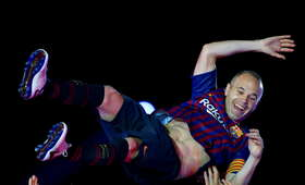 Poruszające pożegnanie Andresa Iniesty z Camp Nou