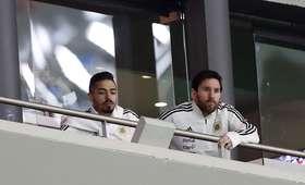 Lionel Messi na meczu Hiszpania - Argentyna
