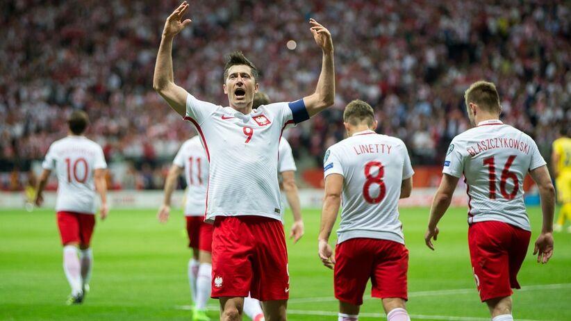 Robert Lewandowski w meczu Polska - Rumunia