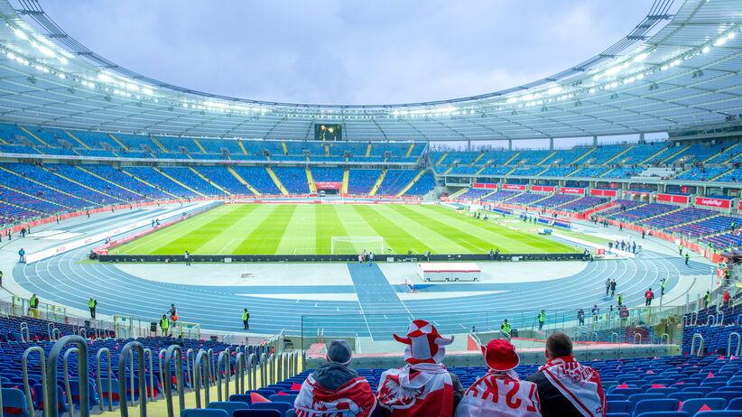 Stadion Śląski przed meczem Polska - Korea