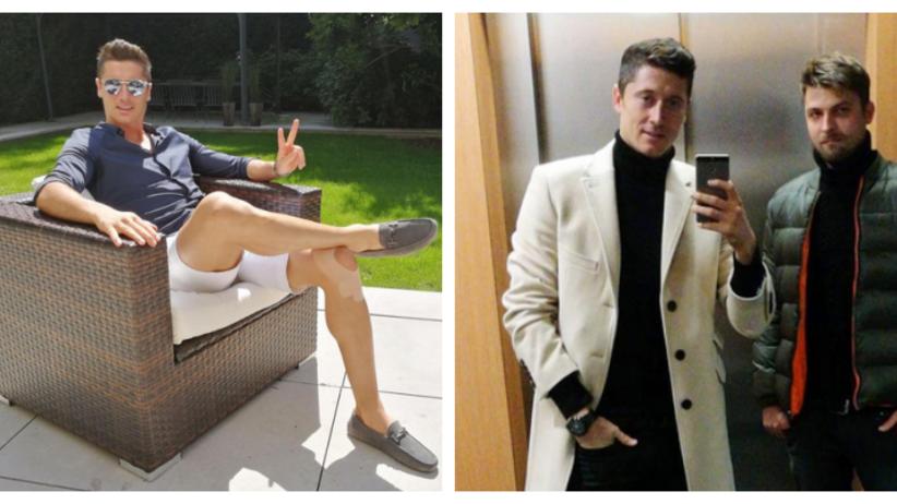 Robert Lewandowski i jego styl. Ubrania Lewego