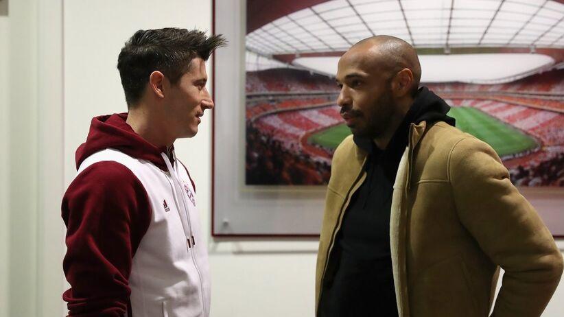 Robert Lewandowski i Thierry Henry