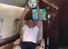 Robert Lewandowski trenuje w samolocie