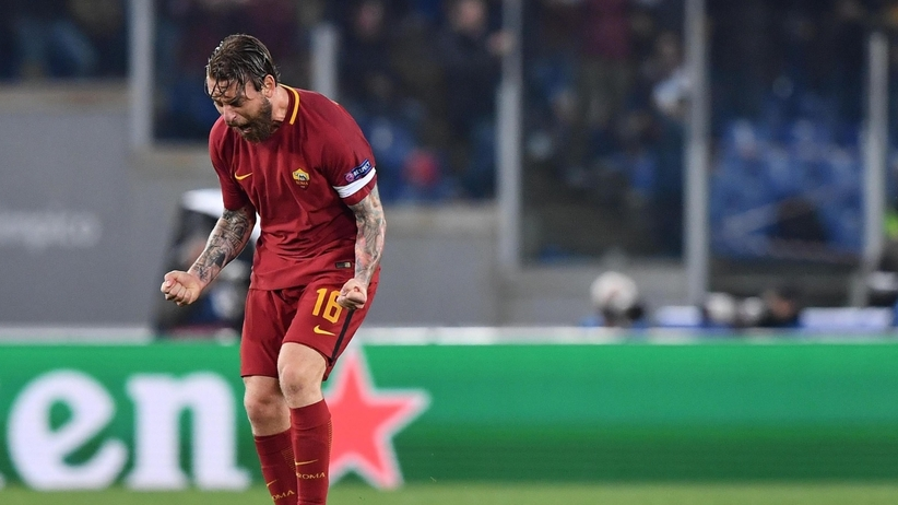 Daniele De Rossi w meczu Roma - Barcelona