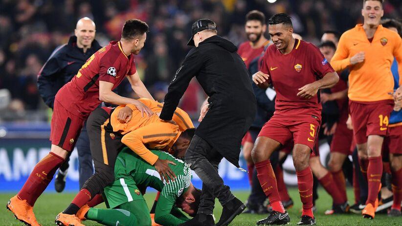 Radość Romy po zwycięstwie z Barceloną